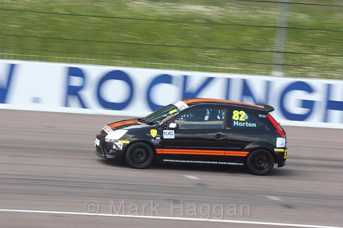 Thomas Horton in the Fiesta Junior championship at Rockingham, June 2017