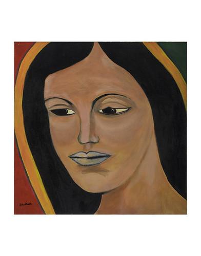 Autor: GABRIEL CORTES GUTIERREZ, La Reyna del Tepeyac  50x50 cm