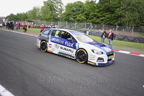 Jason Plato on the grid before the third BTCC race at Oulton Park, May 2017