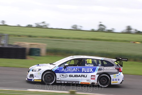 Ash Sutton in BTCC action at Croft, June 2017
