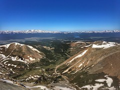 View of Leadville from the Mt Sherman summit