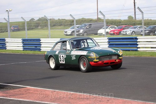 Garth Maxwell in the HRCA Historic Sports Cars at Kirkistown, June 2017
