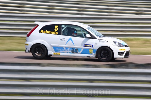 Richard Ashmole in the Fiesta championship Class C at Rockingham, June 2017
