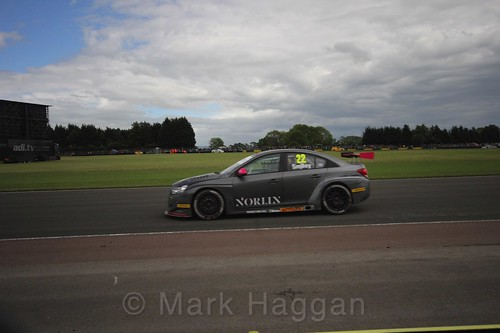 Chris Smiley in BTCC action at Croft, June 2017