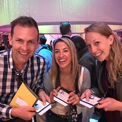 "Getting ready for a ""sky flight"" and from Sydney is Mark and Evelyn @corporatecrayon and @stephsdb from @handwrittenforever at #c2m17"