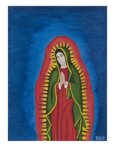 Autor: FRANCISCO SAENZ PORTILLO, Virgen de Guadalupe  40x50 cm