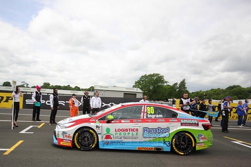 Tom Ingram on the BTCC grid at Oulton Park, May 2017
