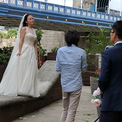 The area around Tower Bridge is really popular for Asian wedding photography