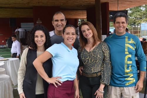Alexandra, Maurílio, Juliana, Paula e Eduardo