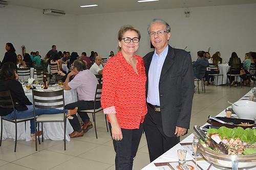 Marlene e Benedito Rocha, proprietários do Espaço Metropolitano