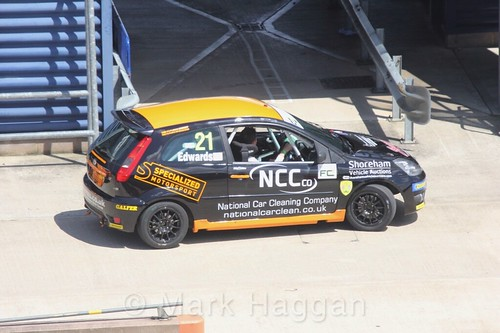 Nathan Edwards in the Fiesta championship Class C at Rockingham, June 2017