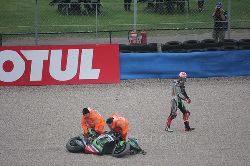 Jonny Rea after his crash at Donington Park, May 2017
