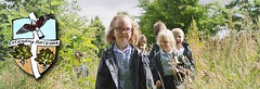 "Pupils enjoying a ""wild walk"" in the countryside"