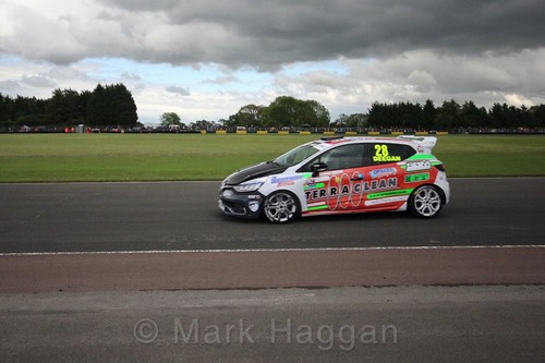 Shayne Deegan in the Renault Clio Cup during the BTCC weekend at Croft, June 2017