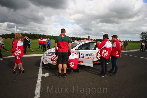 Josh Cook on the BTCC grid at Croft, June 2017