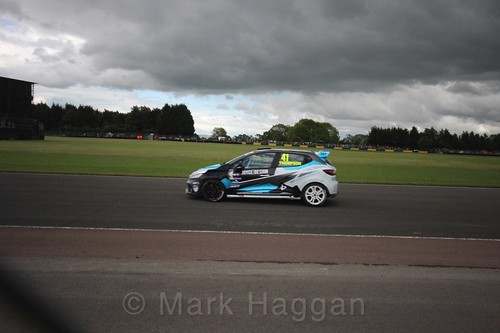Aaron Thompson in the Renault Clio Cup during the BTCC weekend at Croft, June 2017