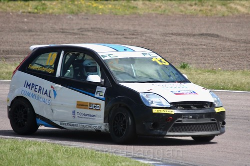 Ryan Faulconbridge in the Fiesta championship Class C at Rockingham, June 2017