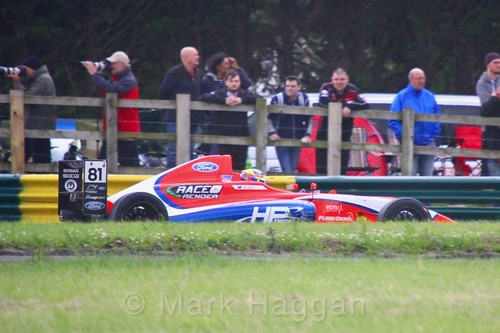 Oliver Piastri in British F4 during the BTCC weekend at Croft, June 2017