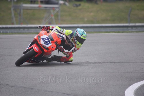 Paolo Giacomini in World Supersport 300 at Donington Park, May 2017