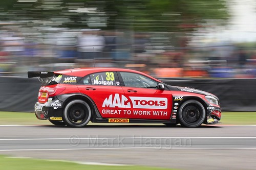 Adam Morgan in BTCC action at Oulton Park, May 2017