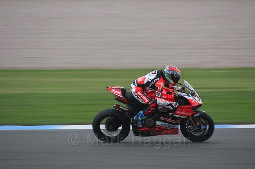 Marco Melandri in World Superbikes at Donington Park, May 2017