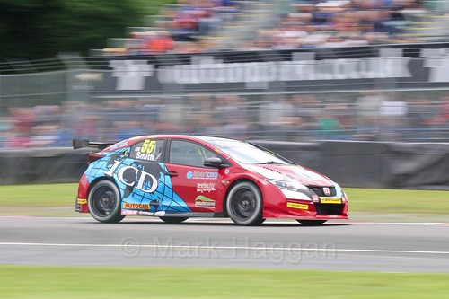 Jeff Smith in BTCC action at Oulton Park, May 2017