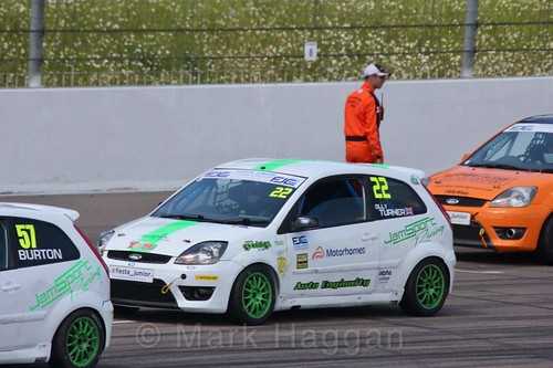 Olly Turner in the Fiesta Junior championship at Rockingham, June 2017