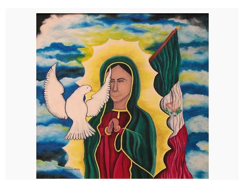 Autor: JUAN CARLOS MORAN MENJIVAR, La Virgen Mexicana  45x49 cm