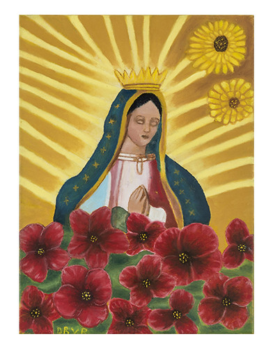 Autor: DORA BEATRIZ VALENZUELA RUIZ, Virgen de Guadalupe  30x40