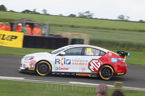 Josh Cook in BTCC action at Croft, June 2017