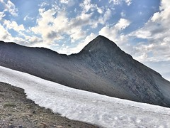 Approaching the Mount Lindsey headwall