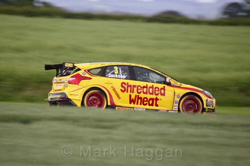 Mat Jackson in BTCC action at Croft, June 2017