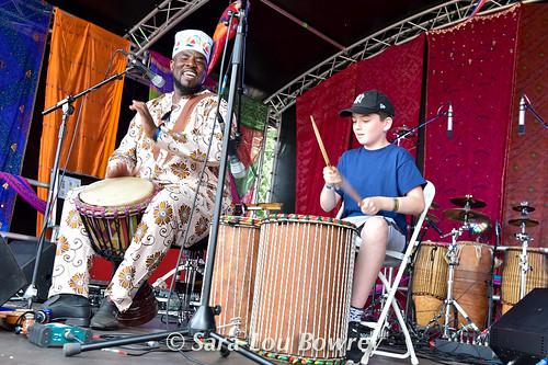 African Drum workshop at Village Green 2017