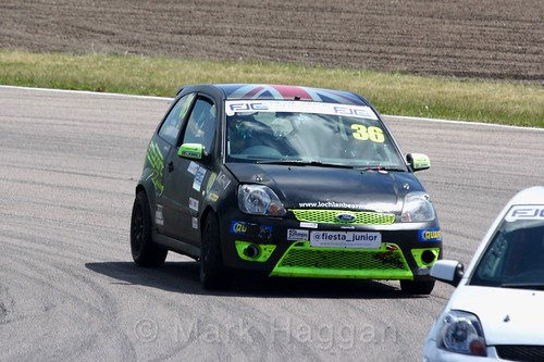 Lochlan Bearman in the Fiesta Junior championship at Rockingham, June 2017