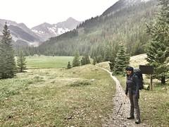 Aman at the trailhead