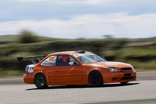 Richie O'Mahoney in the Libre Saloons championship at Kirkistown, June 2017