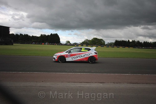 Nathan Harrison in the Renault Clio Cup during the BTCC weekend at Croft, June 2017