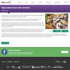 Snapshot Repair Café at Fearon Hall – 4th March | Less Waste zxqpk