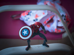What are you doing with Captain America's shield_