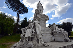 JOHANN WOLFGANG VON GOETHE MONUMENT IN VILLA BORGHESE, ROME, ITALY  -  (Selected by GETTY IMAGES)