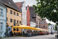 Wismar: Am Lohberg - A street opposite the Old Harbour