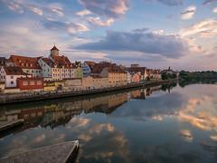 Donau im Abendlicht