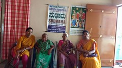 Mahalakshmi and pramila ajji with Divya and kavitha on women's day