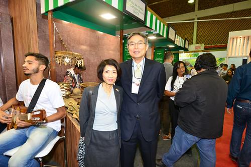 Mariko e o presidente da Cenibra, Sr.Naohiro Doi