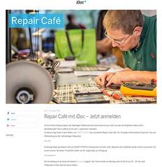 Snapshot Repair Café mit iDoc - Jetzt anmelden - iDoc Reparatur Service mobx7