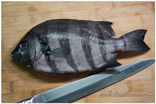 【食譜】人稱極品夢幻之魚的橫帶石鯛拆解示範,以及夢幻2吃DIY(生魚片+味噌湯) ~ 電冰箱的灶腳手作DIY教室