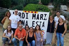 """Vine a la Ciutadella i fes-te la foto amb la pancarta històrica """"Jordi Marí, Tiana està amb tu""""! 🏊 #Tiana #Paralímpics92"""