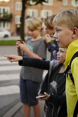 Playing pokemon go after School