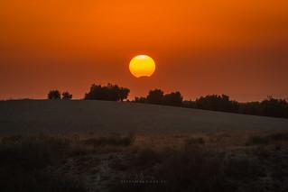 Eclipse solar parcial 21 Agosto 2017 visto desde Úbeda - Jaén