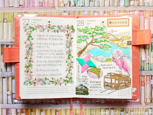 手帳×紙膠帶拼貼 | Hobonichi Planner 2017上半年